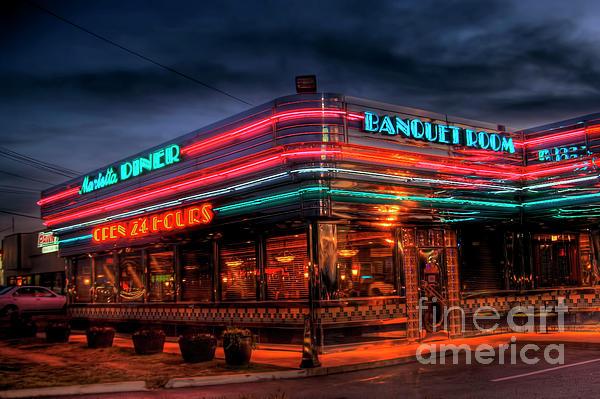 Marietta Diner Print by Corky Willis Atlanta Photography