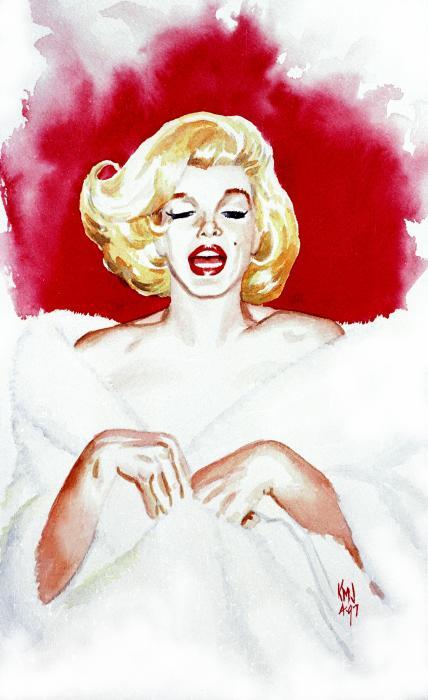 Marilyn Monroe Glamour Goddess Print by Ken Meyer jr