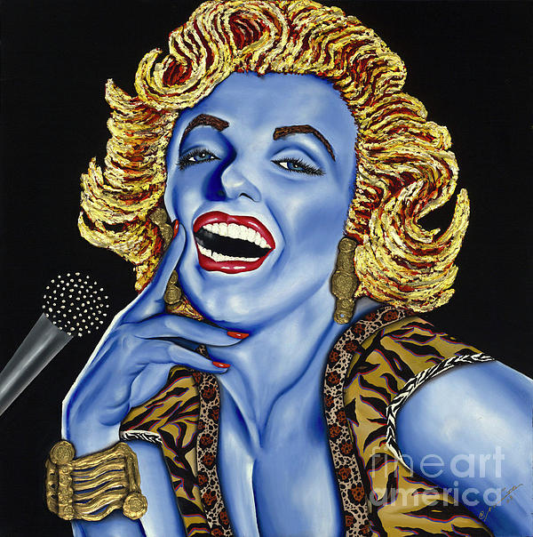 Marilyn Painting  - Marilyn Fine Art Print