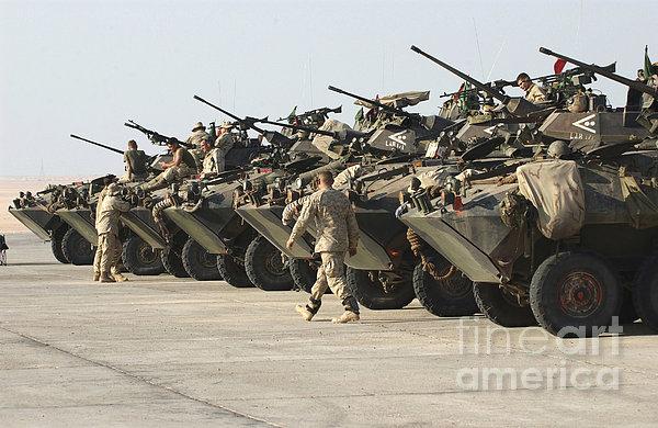 Marines Perform Maintenance On Light Print by Stocktrek Images