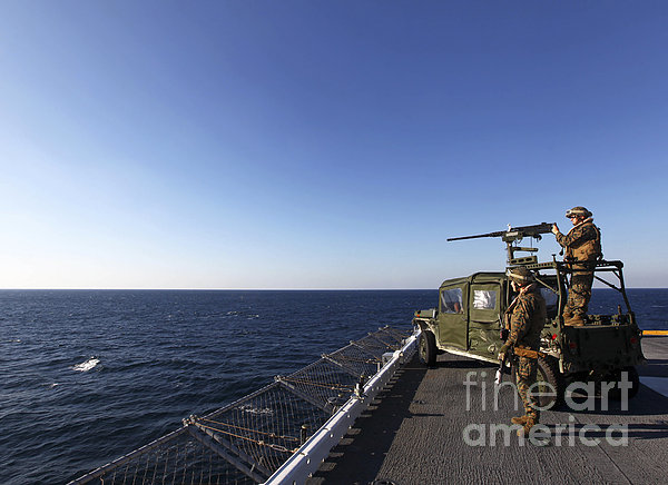 Marines Provide Defense Security Print by Stocktrek Images