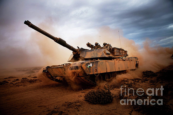 Marines Roll Down A Dirt Road Print by Stocktrek Images