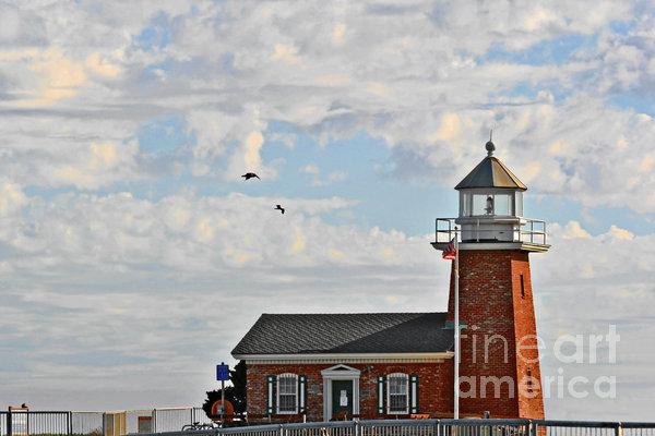 Mark Abbott Memorial Lighthouse  - Home Of The Santa Cruz Surfing Museum Ca Usa Print by Christine Till