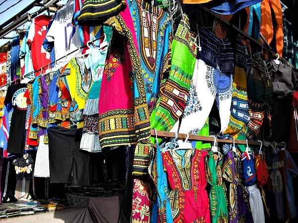 Market Of Djibuti With More Colors Print by Jenny Senra Pampin