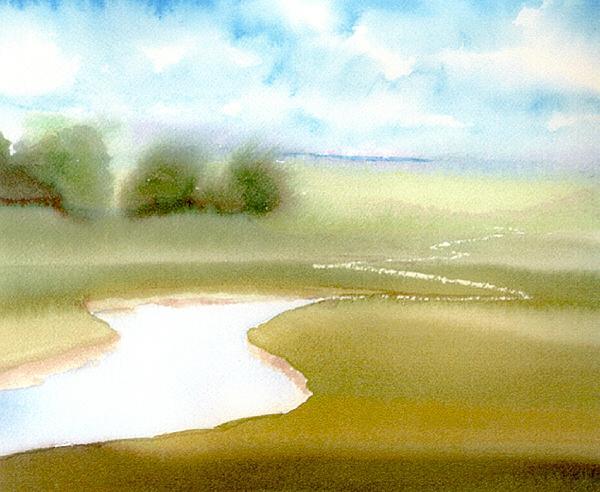 Marsh Calm Print by Joseph Gallant