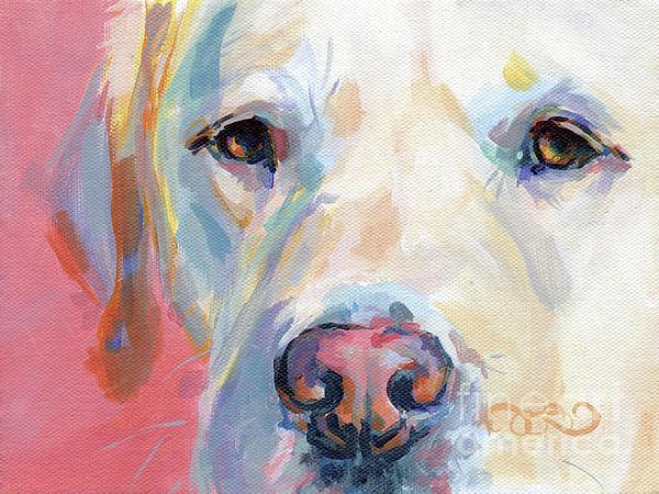 Martha's Pink Nose Print by Kimberly Santini