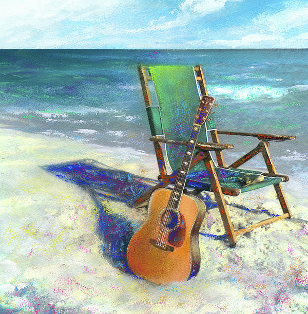 Martin Goes To The Beach Painting  - Martin Goes To The Beach Fine Art Print