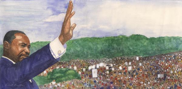 Martin Luther King Jr. Print by Robert Casilla