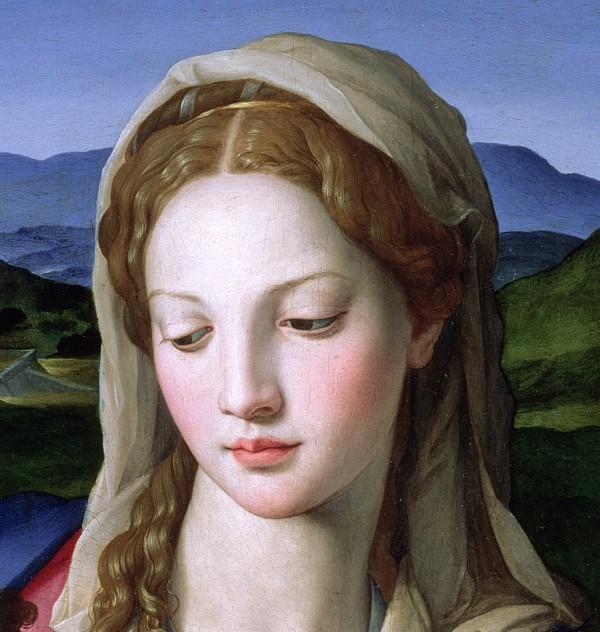 Mary Print by Agnolo Bronzino
