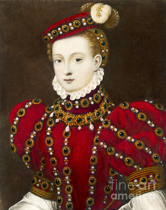 Mary Queen Of Scots Print by Mary Evans Picture Library and Photo Researchers