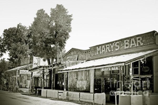 Mary's Bar Cerrillo Nm Print by Christine Till