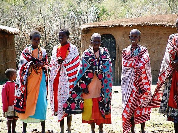 Masai Villagers Print by Roberto Edmanson-Harrison