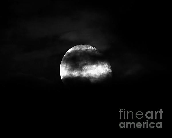 Masked Moon Print by Al Powell Photography USA