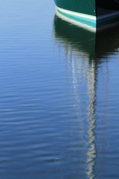 Mast Reflections Print by Karol  Livote