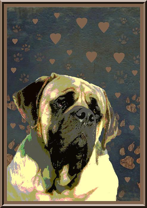 Mastiff Print by One Rude Dawg Orcutt