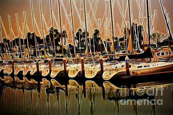 Masts Print by Cheryl Young