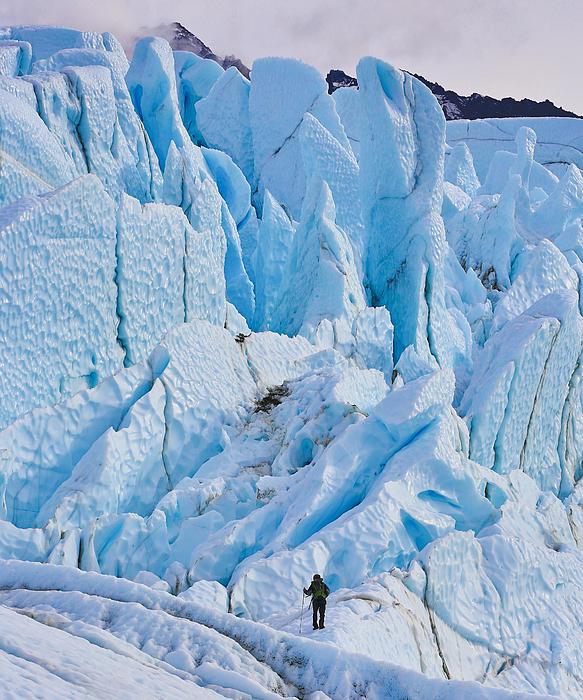 Matanuska Glacier Alaska Hiking Print by Sam Amato