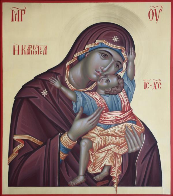 Mather Of God Kardiotisa Painting  - Mather Of God Kardiotisa Fine Art Print