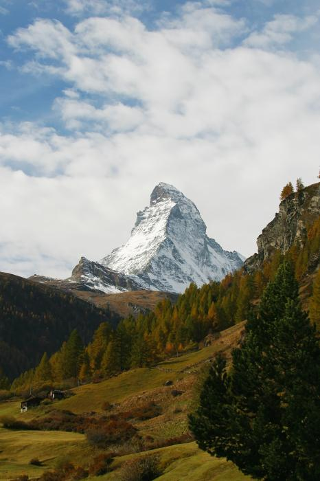 Matterhorn In The Fall Print by Stan and Anne Foster