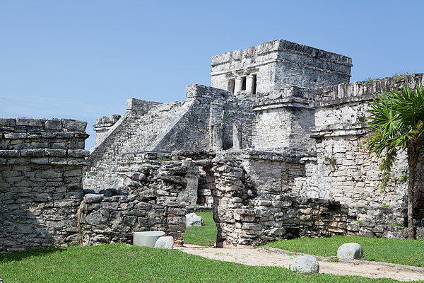 Mayan Ruins Print by Monica and Michael Sweet