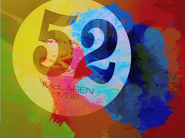 Mclaren Watercolor Print by Naxart Studio