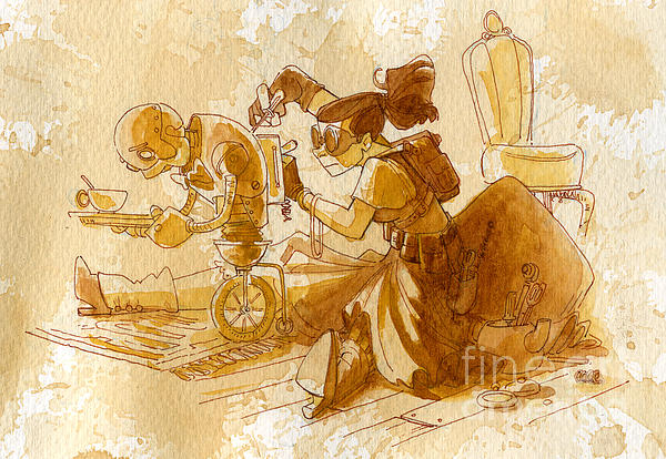 Mechanic Print by Brian Kesinger