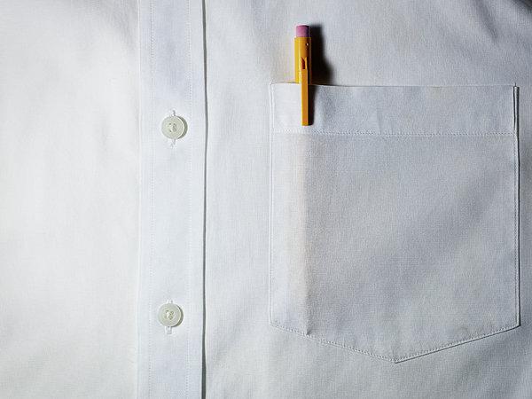 Mechanical Pencil In White Shirt Pocket. Print by Ballyscanlon