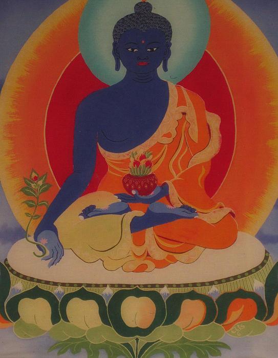 Medicine Buddha Print by Elisabeth Van der Horst
