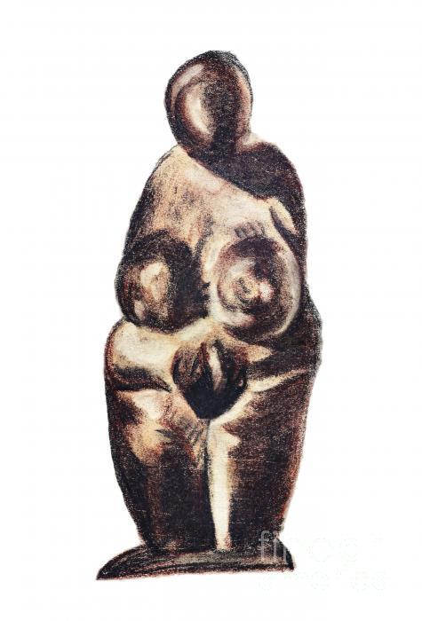 medieval Venus - fertility symbol Print by Michal Boubin
