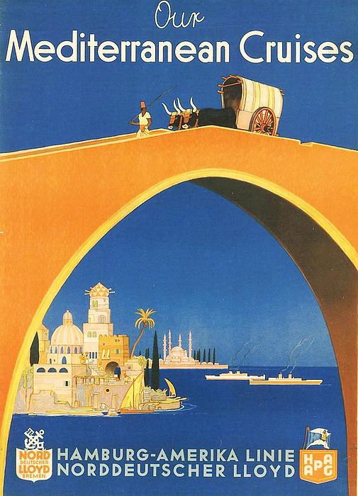 Mediterranean Cruising Print by Nomad Art And  Design