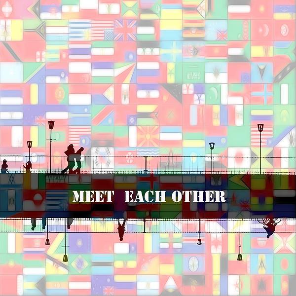 Meet Each Other Print by Stefan Kuhn