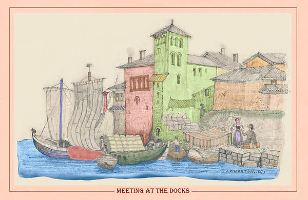 Meeting At The Docks Classic Print by Donna Munro