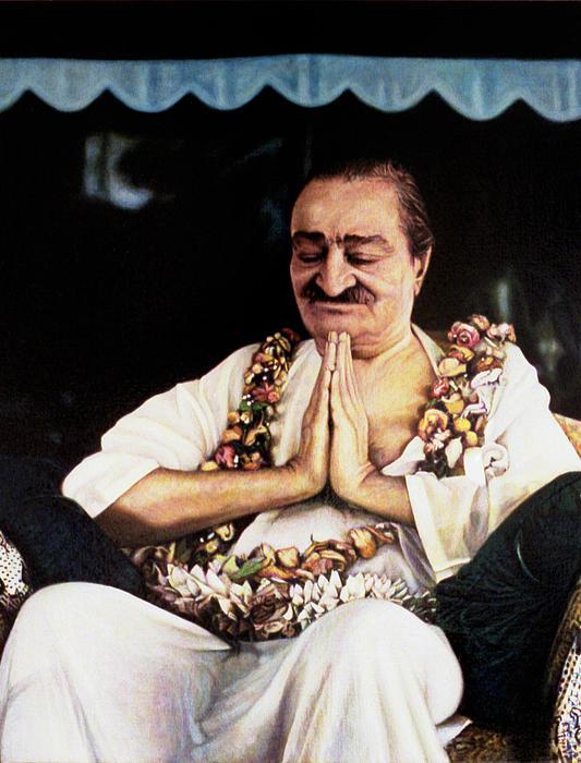 Meher Baba 2 Print by Nad Wolinska