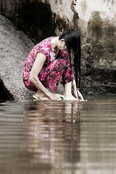 Mekong Delta Life Print by Iris Van den Broek