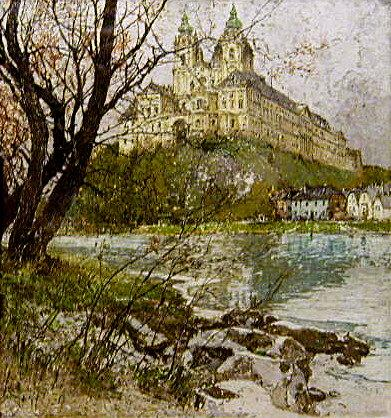 Melk On The Danube Painting