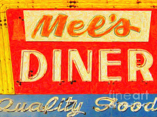 Mels Diner Print by Wingsdomain Art and Photography