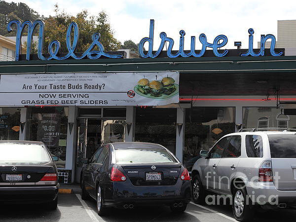 Mel's Drive-in Diner In San Francisco - 5d18014 Print by Wingsdomain Art and Photography