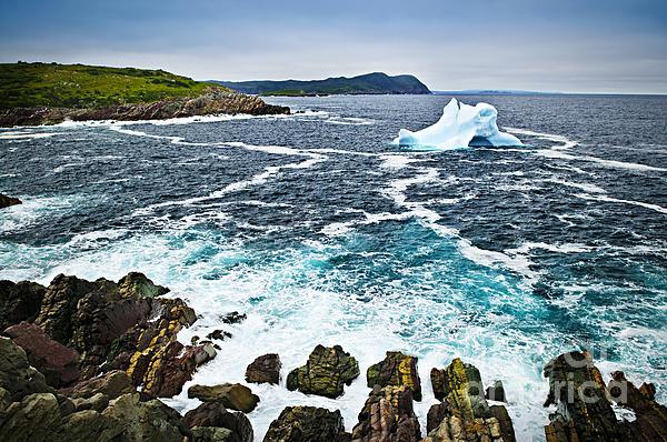 Melting Iceberg In Newfoundland Print by Elena Elisseeva