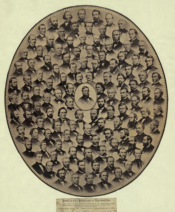 Members Of The U.s. House Print by Everett