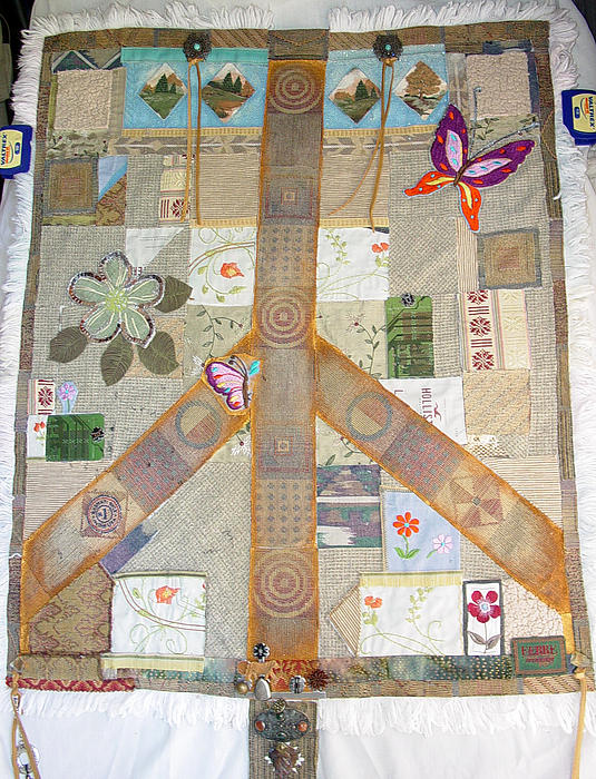 Lorraine Stone - Memorial Day 2011 Peace Symbol Tapestry