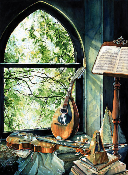 Memories And Music Print by Hanne Lore Koehler