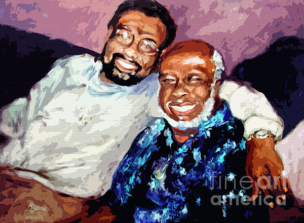 Memphis Soul Music William Bell And Rufus Thomas Print by Ginette Fine Art LLC Ginette Callaway