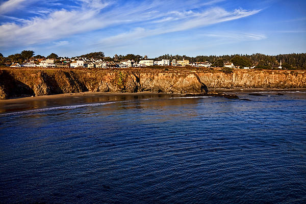 Mendocino Coastal Town Print by Garry Gay