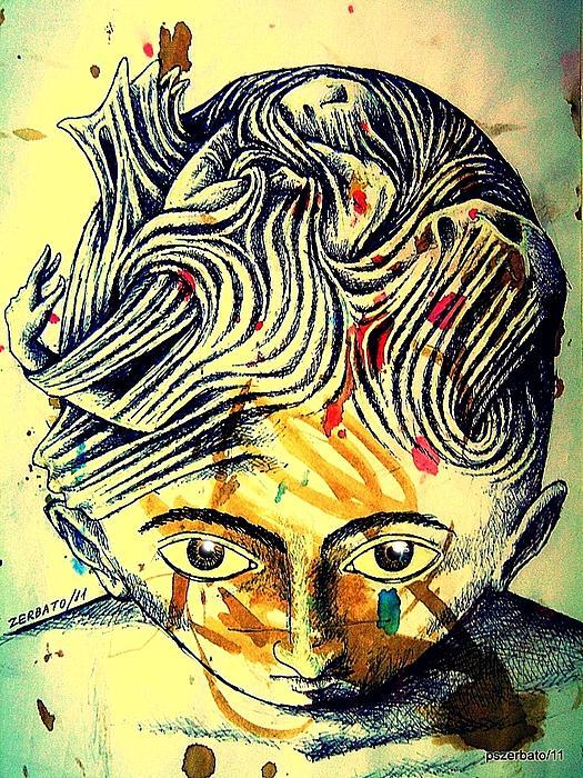 Mental Agitation Print by Paulo Zerbato