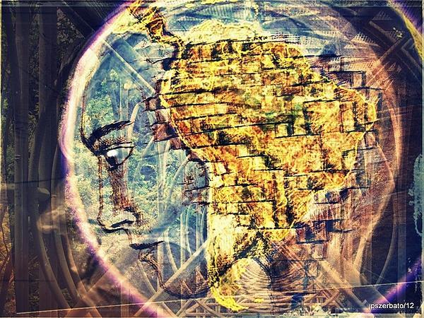 Mental Construction Print by Paulo Zerbato