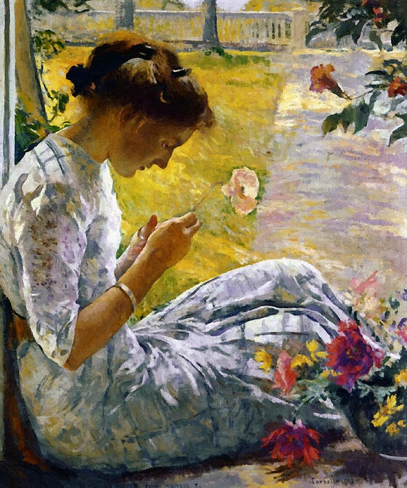 Stefan Kuhn - Mercie Cutting Flowers Oil