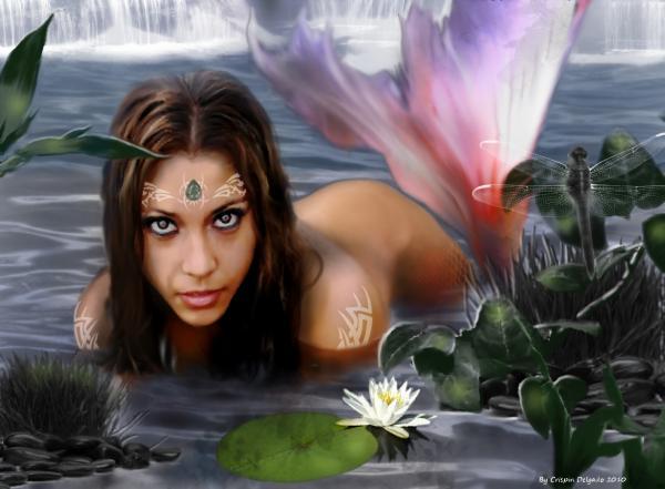 Mermaid Lagoon Print by Crispin  Delgado