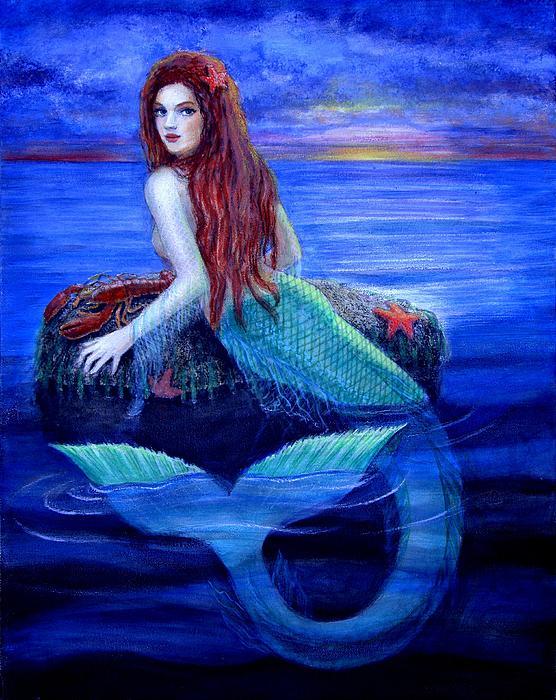 Mermaid's Dinner Print by Sue Halstenberg