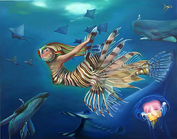 Mermalien Odyssey Print by Patrick Anthony Pierson