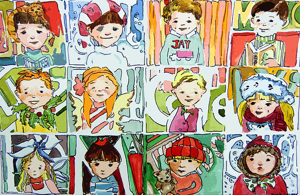 Merry Christmas Cousins Print by Mindy Newman